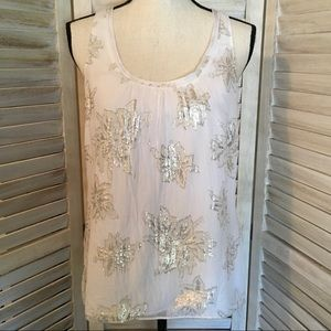 [WHBM] Metallic Sleeveless Top